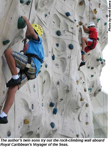 Voyager of the Seas rock climbing kids