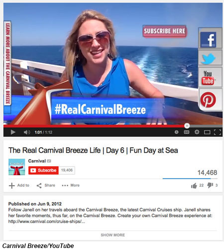 Carnival Breeze/YouTube