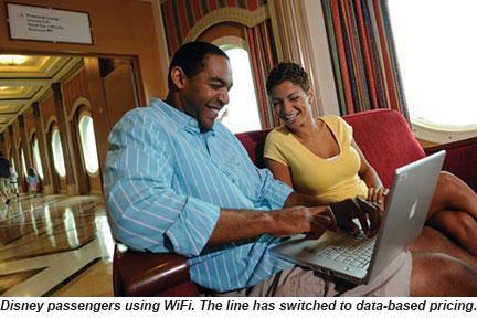 Disney passengers using WiFi