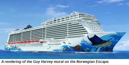Norwegian Escape hull art