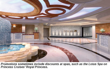 Lotus Spa on Royal Princess.