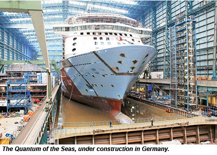 Quantum of the Seas under construction