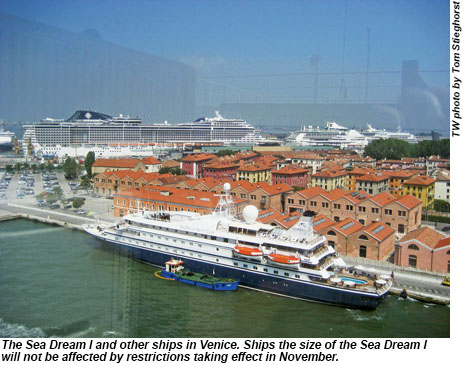 The Sea Dream I and other ships in Venice.