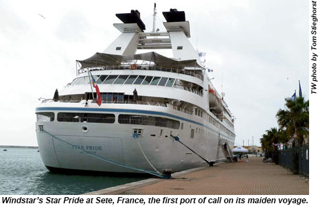 The Star Pride in Sete, France.