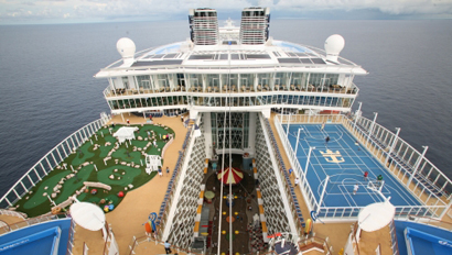 Oasis of the Seas overhead