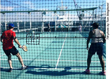 Crystal Serenity paddle tennis courts