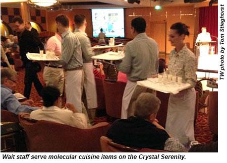 Crystal Serenity - molecular cuisine