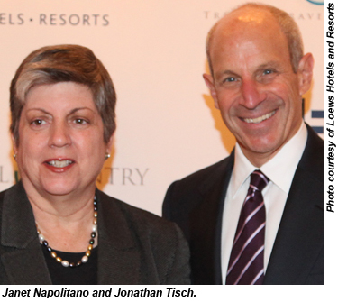 Janet Napolitano and Jonathan Tisch