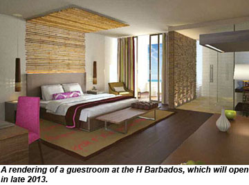 H Barbados room rendering