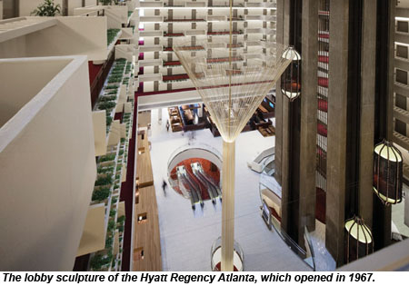 Hyatt Regency Atlanta Lobby Sculpture
