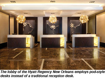 hyatt regency new orleans lobby - Hotel Reception Desk Design