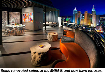 MGM Grand suite with terrace
