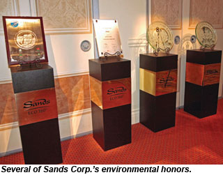 Sands Corp environmental honors