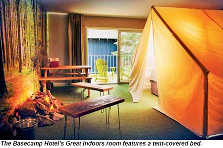 Basecamp Hotels Great Indoors Room