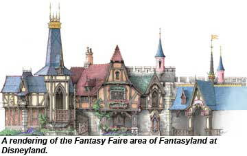 Disneyland Fantasy Faire rendering
