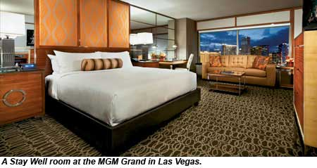 A Stay Well room at the MGM Grand in Las Vegas.