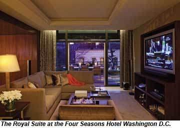 Royal Suite Four Seasons Washington DC