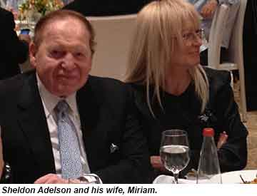 Adelson and wife Miriam