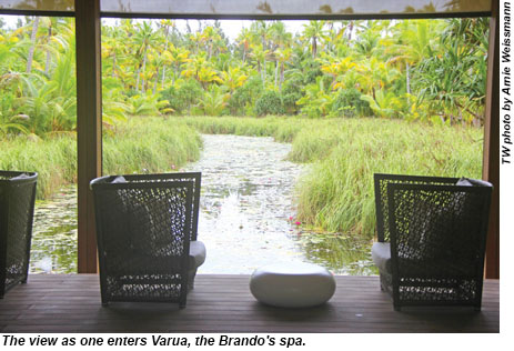 The view as one enters Varua, the Brando's spa.