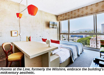 The Line Hotel Los Angeles l.a.'s nightlife hotels: travel weekly