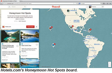 Hotels.com Honeymoon Hot Spots board