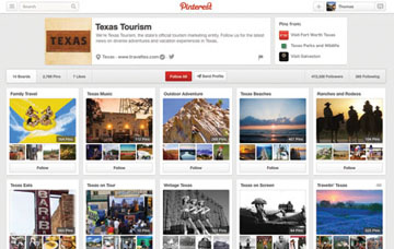 Texas Tourism Pinterest