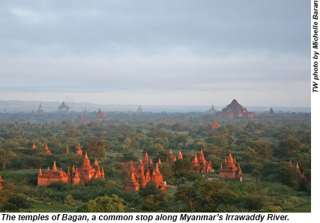 The temples of Bagan, Myanmar.