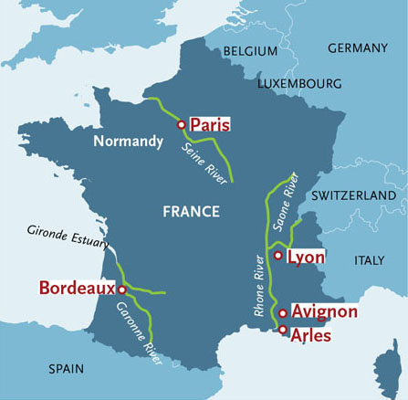 France River Cruise Map