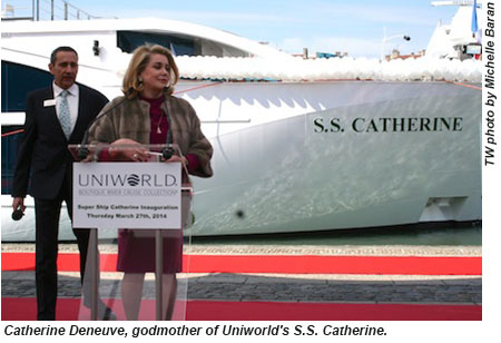 Catherine Deneuve godmother, SS Catherine