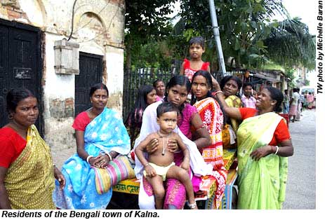 Residents of the Bengali town of Kalna.