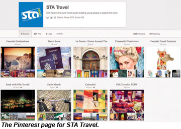 Pinterest STA Travel