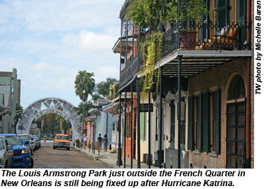 Louis Armstrong Park near the French Quarter