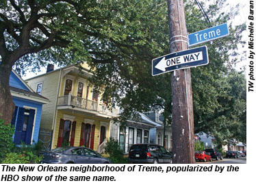 Treme neighborhood in NewOrleans