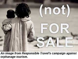 An image from Responsible Travels campaign against orphanage tourism.