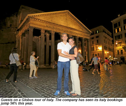 A couple in Italy.