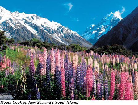 Mount Cook on the South Island of New Zealand