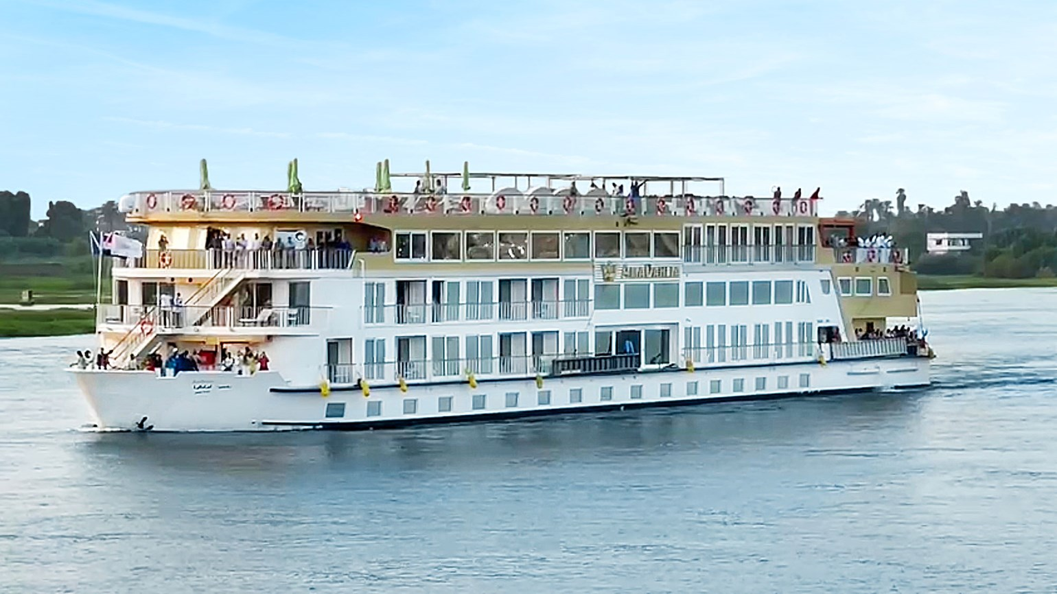 AmaWaterways' new ship makes debut in Egypt