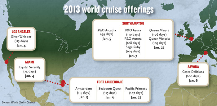 2013 WORLD CRUISE MAP