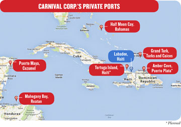 on carnival cruise map