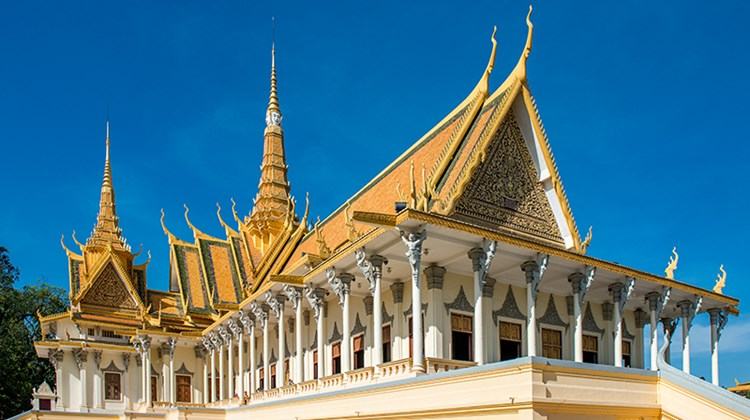 Royal Palace complex in Phnom Penh, built in 1866 to house the kings of Cambodia.