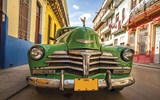Our next three slides had two picks each. Shown here, a vintage car in Cuba. The island destination was the top choice for Frank Del Rio, Prestige Holdings, and Jason Lasecki, formerly Disney Cruise Line and currently Ford Motor Co.