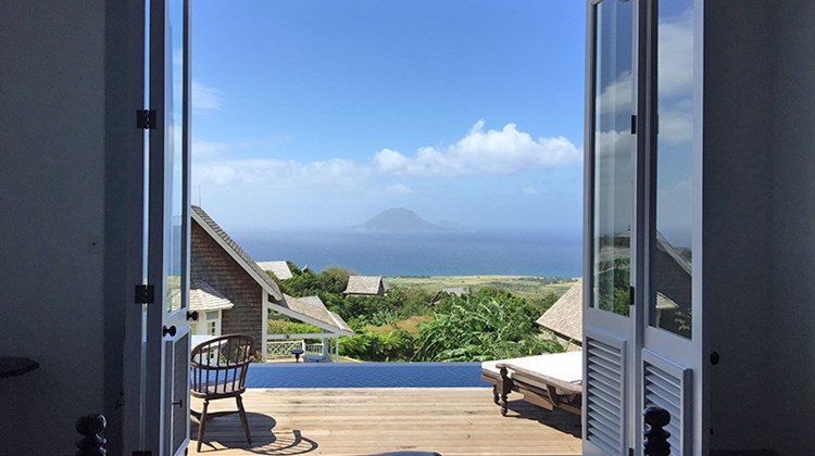 The view from the cottages shows the islands of Statia and Saba. On a clear day, St. Maarten/Martin and St. Barts can be seen on the horizon.
