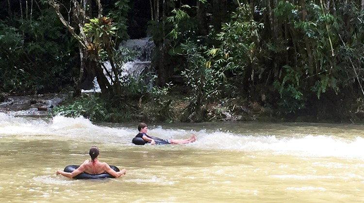River tubing is one of the main activities on the farm.