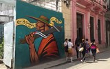 A mural on the streets of Old Havana.