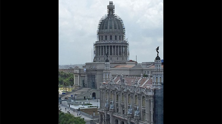 Havana's Capitol building, which closely resembles the U.S. Capitol, is undergoing renovations.