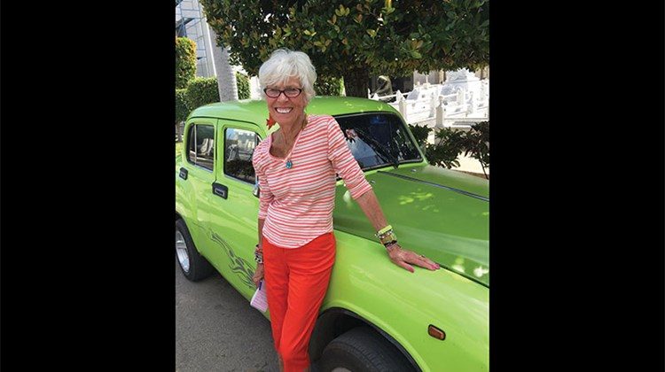 Travel Weekly's Gay Nagle Myers in Havana.