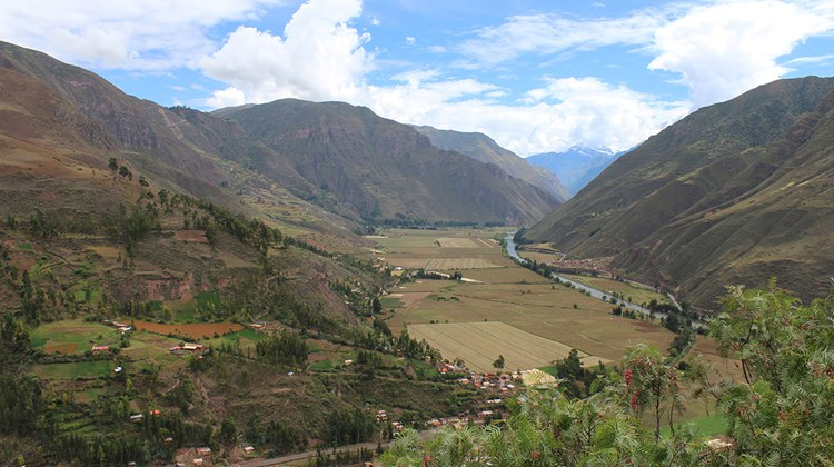The Sacred Valley of the Incas and the Urubamba River.