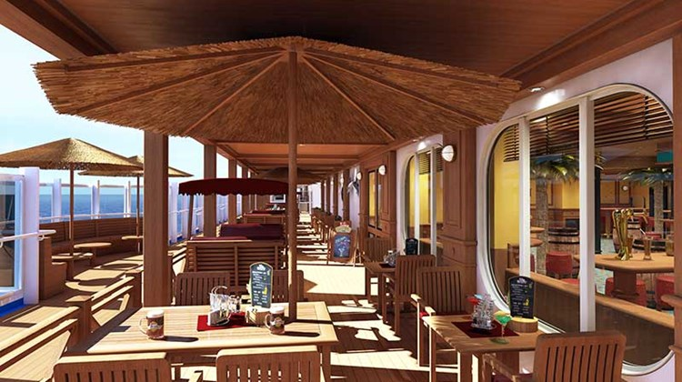 The RedFrog Pub will have indoor and outdoor spaces.