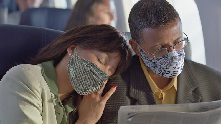 Designed to support hydration and block allergens, pollen and airborne contaminants such as bacteria and viruses that cause illness, this ultra-thin air mask looks good while doing good when you are traveling in a plane, train or motorcoach. The product, which is available in nine designs for men and women, features a one-size-fits-all, four-way stretch fabric and stretch ear loops and has no seams, latex elastic straps or buckles. Each MyAir mask kit includes a lightweight washable sheath, three replaceable filters and a zip-lock case.