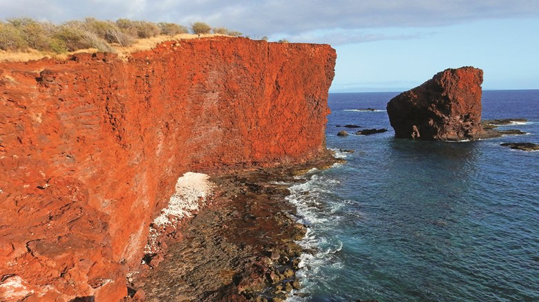 Just 141 square miles in size, Lanai is Hawaii's smallest visitor-friendly island and home to only 3,000 residents. But the often overlooked destination features a dramatic range of natural beauty. Pictured here, Puu Pehe, a stunning shoreline attraction is only a short walk from Hulopoe Beach Park.
